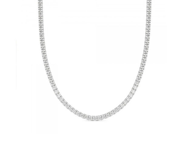 3mm Round Cut Tennis Necklace with White Stones for $82
