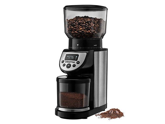 Gourmia® GCG205 14-Oz Automatic 4-Mode Digital Conical Burr Grinder for $99