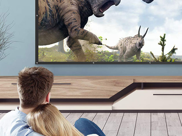 TaoTronics 120″ 16:9 Projector Screen for $24