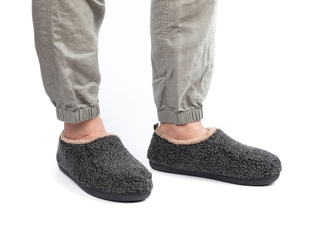 Men's Nomad Slippers with Memory Foam (Black) for $16