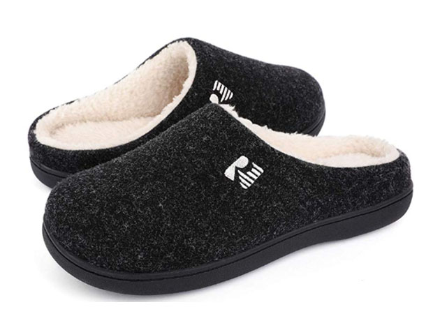 RockDove Men's 2-Tone Memory Foam Slippers for $14
