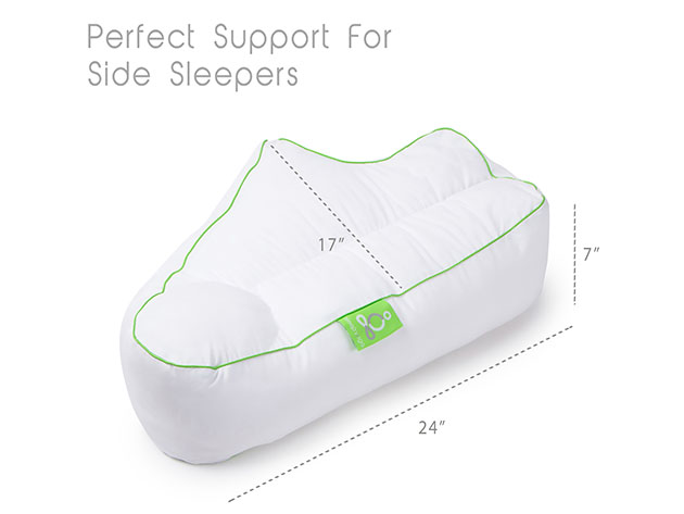 Sleep Yoga®: Side Sleeper Arm Rest Pillow with Pillow Cover for $59