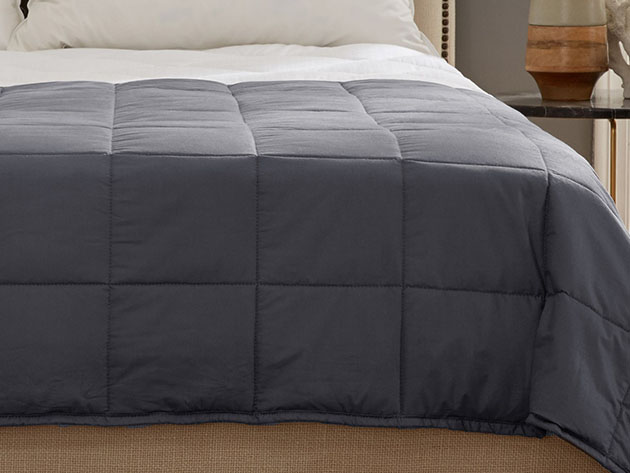 Kathy Ireland Weighted Blanket (Charcoal/20 Lb, 60″x 80″) for $94