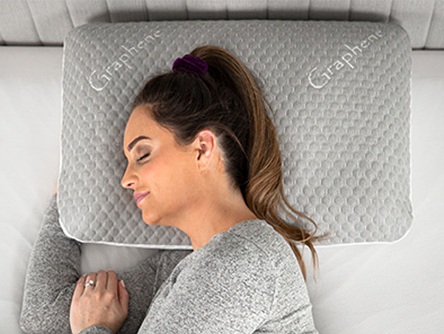 CarbonIce™: 7-in-1 Bacteria Protection & Cooling Pillow for $88