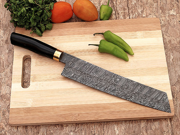 Damascus Santoku Style Chef Knife for $44