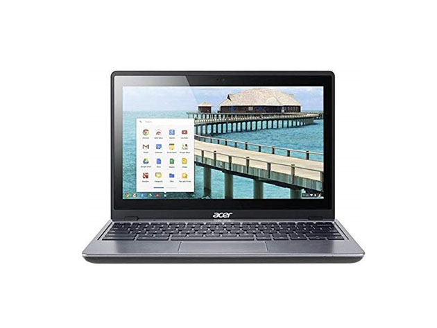 Acer C720P 11.6″ 16GB Touchscreen Chromebook – Black (Refurbished) for $109