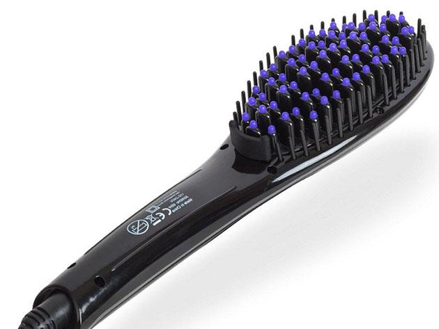 Pro Ceramic Heating Straightening Iron Anti-Scald Brush for $24