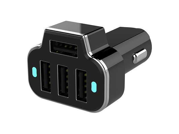 PowerStation 4-Port USB Car Charger for $9