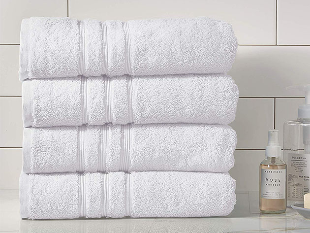 Turkish Cotton 700 GSM Bath Towels: Set of 4 for $52