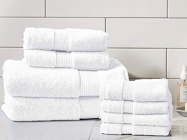Turkish Cotton 700 GSM Towels: Set of 8 for $44