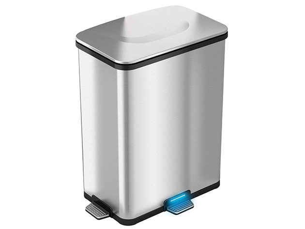iTouchless AutoStep Pro 13-Gallon Step-Sensor Trash Can for $119