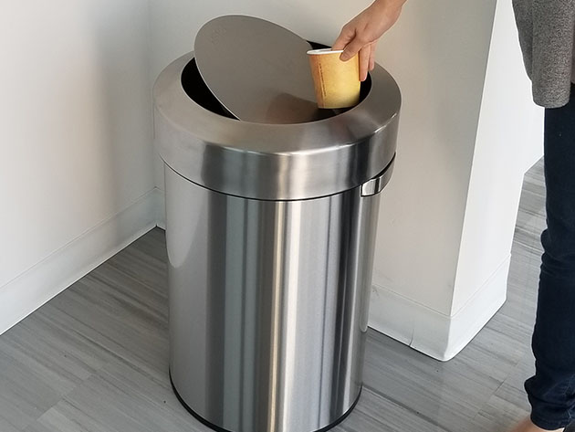 iTouchless Titan 17-Gallon Swing-Top Stainless Steel Trash Can for $119