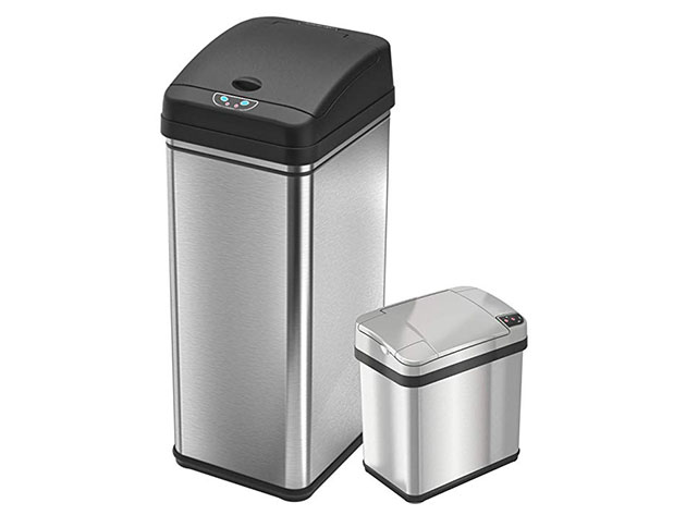 iTouchless 13-Gallon & 2.5-Gallon Automatic Sensor Trash Cans for $99