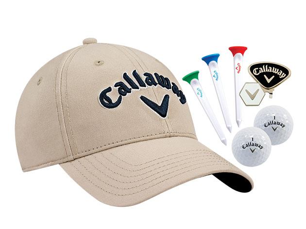 Callaway Tour Set: Hat, Clip, Par-Tees & Balls for $23