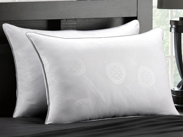 MicronOne Allergen-Free Gel Fiber All-Sleeper Pillows: 2-Pack for $54