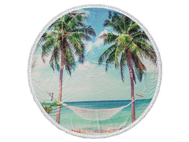 Round Cotton Turkish Beach Towel for $39