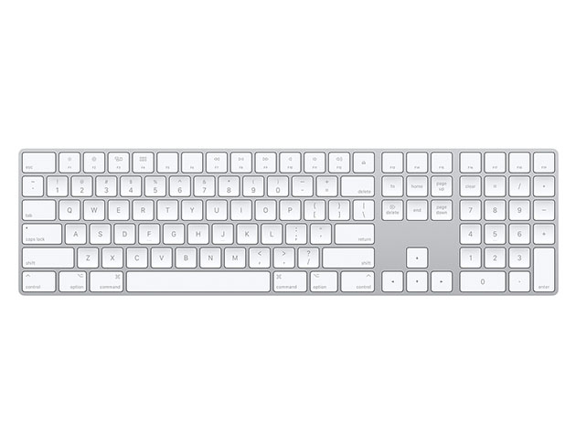 Apple Magic Keyboard with Numeric Keypad – Silver (Certified Refurbished) for $99