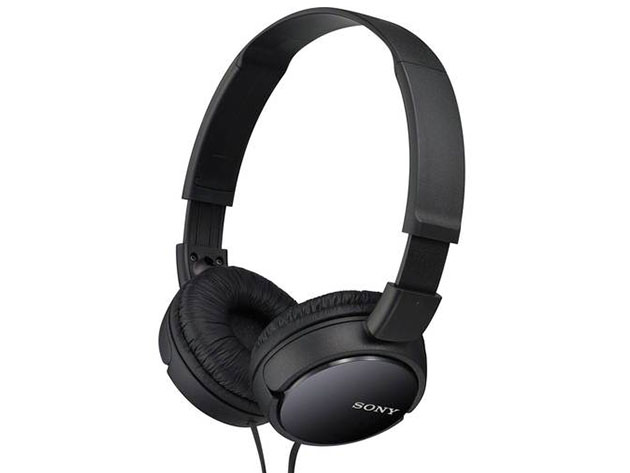 Sony ZX110AP Extra Bass™ Headphones with Mic – Black (Open Box) for $16