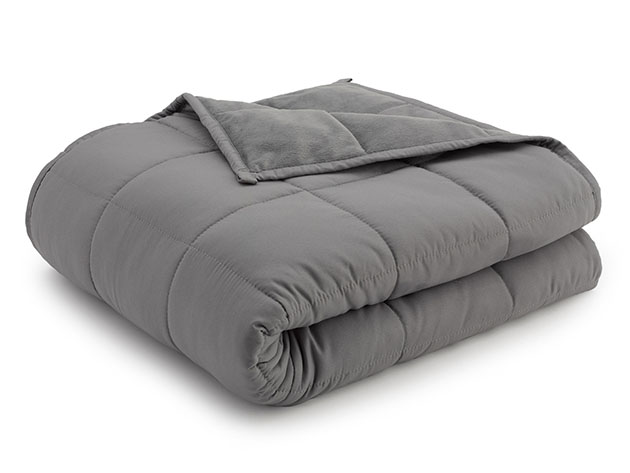 Weighted Anti-Anxiety Blanket (Grey/Grey) for $59