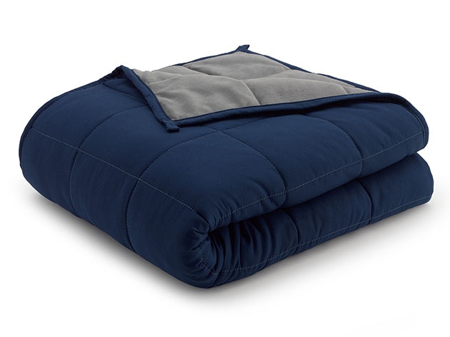 Weighted Anti-Anxiety Blanket (Grey/Navy) for $59