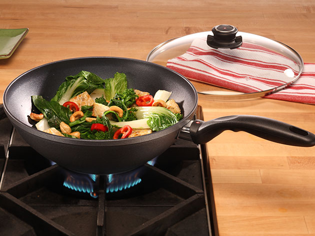 Swiss Diamond® 11″ Nonstick Wok with Lid  for $149