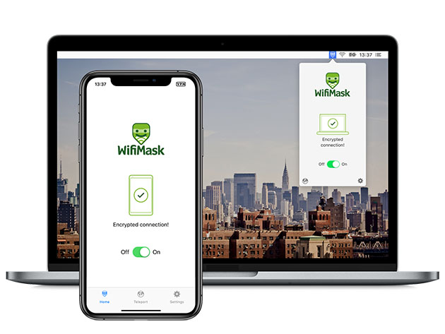 WifiMask VPN Unlimited Devices: 3-Yr Subscription for $39