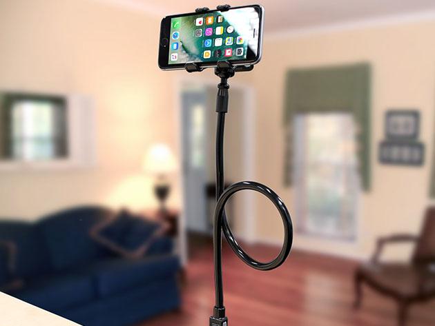 Skivia Flexible Gooseneck Smartphone Clip Holder for $9
