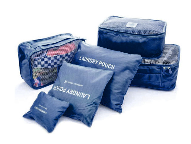 Travel Packing Bags & Storage Cubes: Set of 6 for $19