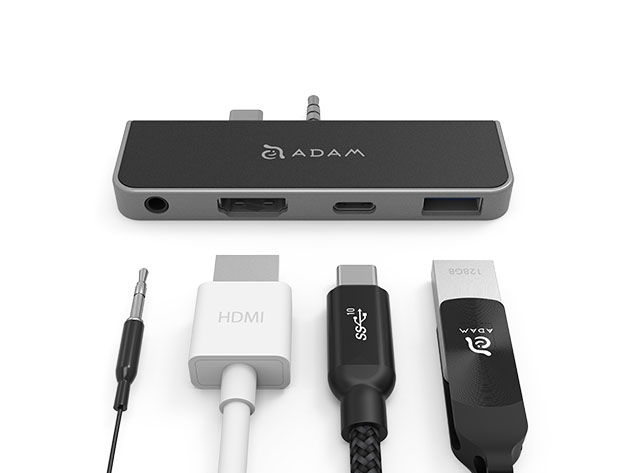 CASA Hub S4 USB-C 4-in-1 Hub for Microsoft Surface Go for $49
