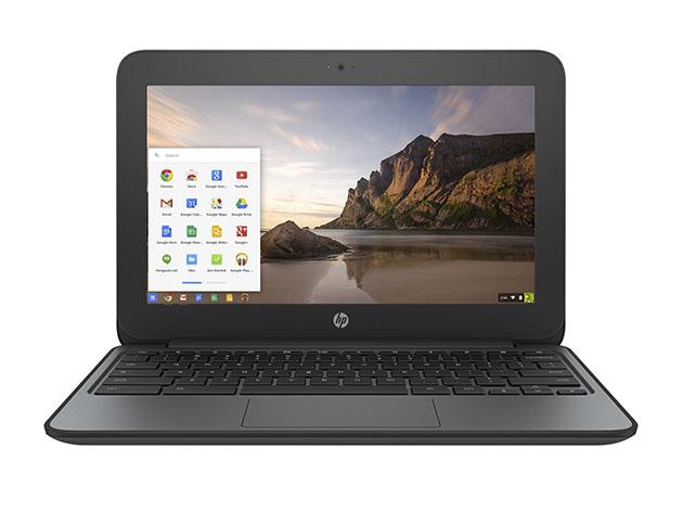 HP G4 EE 11.6″ Chromebook Intel Celeron N2840 16GB – Black (Refurbished) for $84