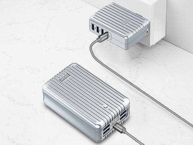 Zendure A8PD: 26,800mAh 5-USB Port Power Bank (Silver) for $89