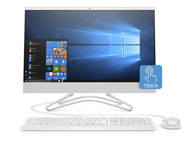 HP 24″ All-in-One Touchscreen Desktop AMD Ryzen 3 1TB – Silver (Certified Refurbished) for $499