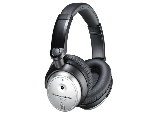 Audio-Technica ATH-ANC7bSV QuietPoint® Headphones – Black/Silver (Certified Refurbished) for $69