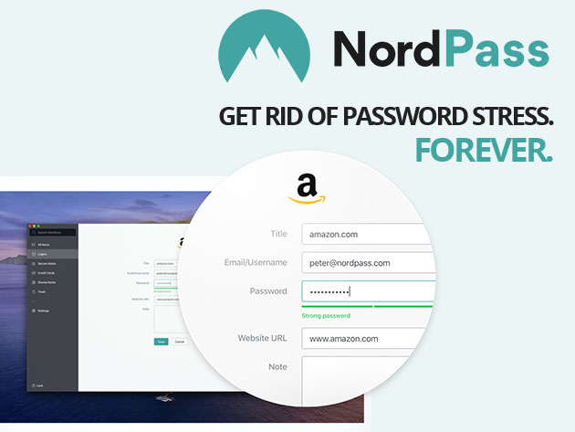 NordPass Password Manager: 2-Yr Subscription for $59