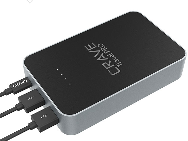 Crave Travel Pro 13,400mAh Power Bank for $39