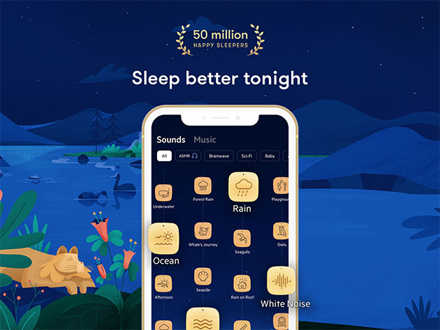 Relax Melodies Meditation App: Lifetime Subscription for $79