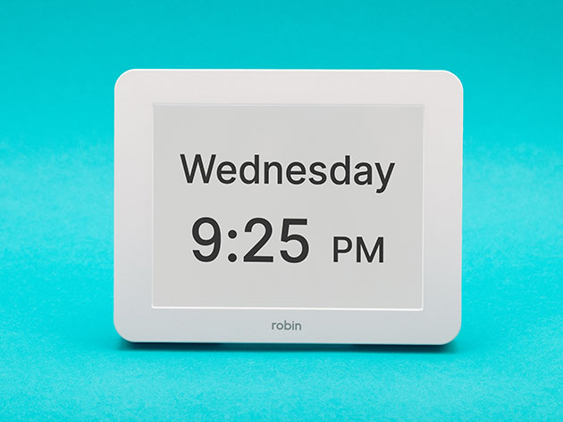 Robin 8″ Digital Day Clock (White) for $53