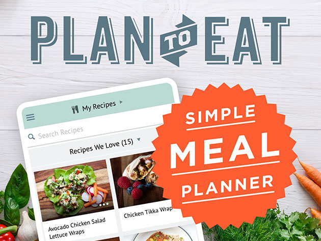 Plan to Eat Meal & Grocery List Planner: 1-Yr Subscription for $29
