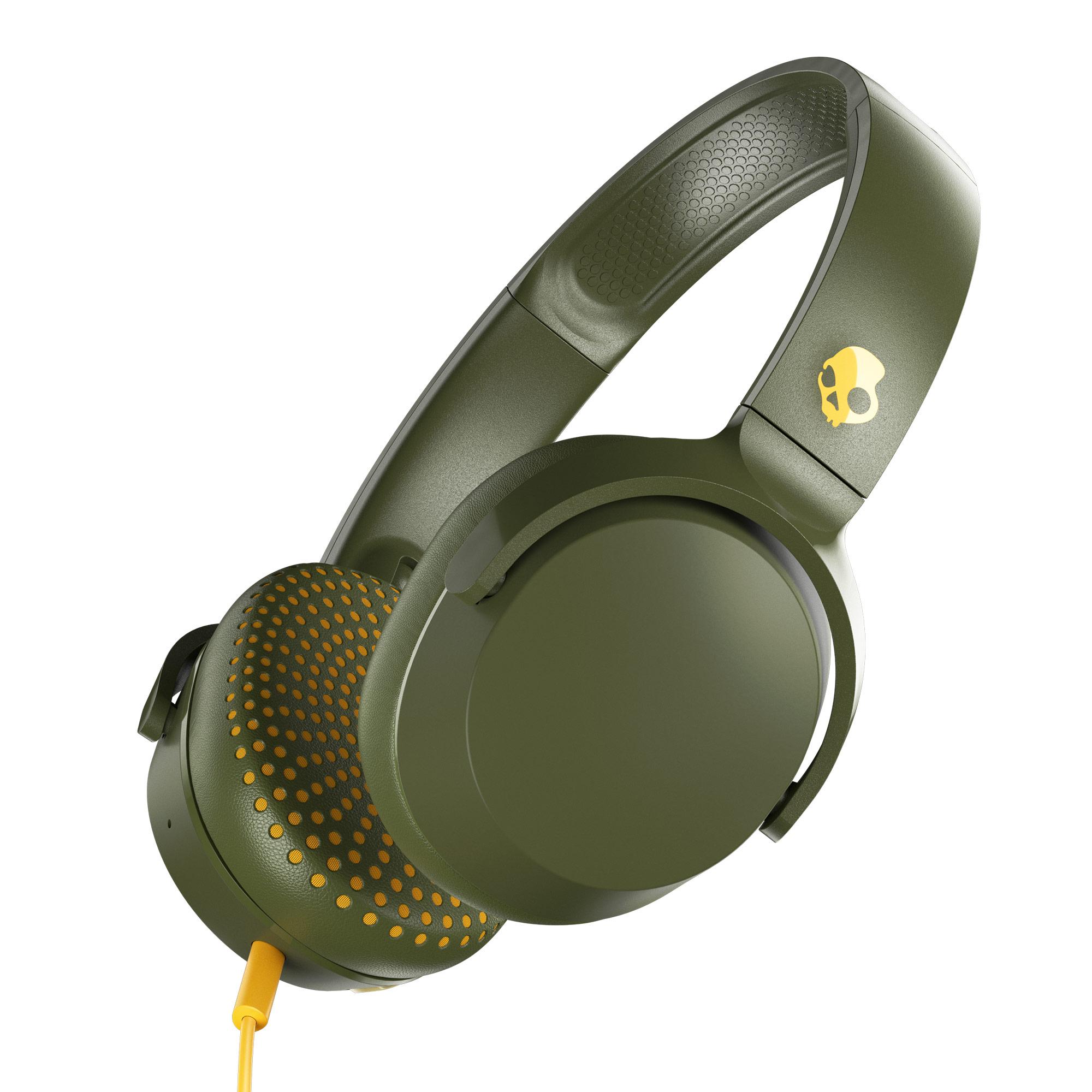 Skullcandy Riff On-Ear Durable Headphone – Olive for $19