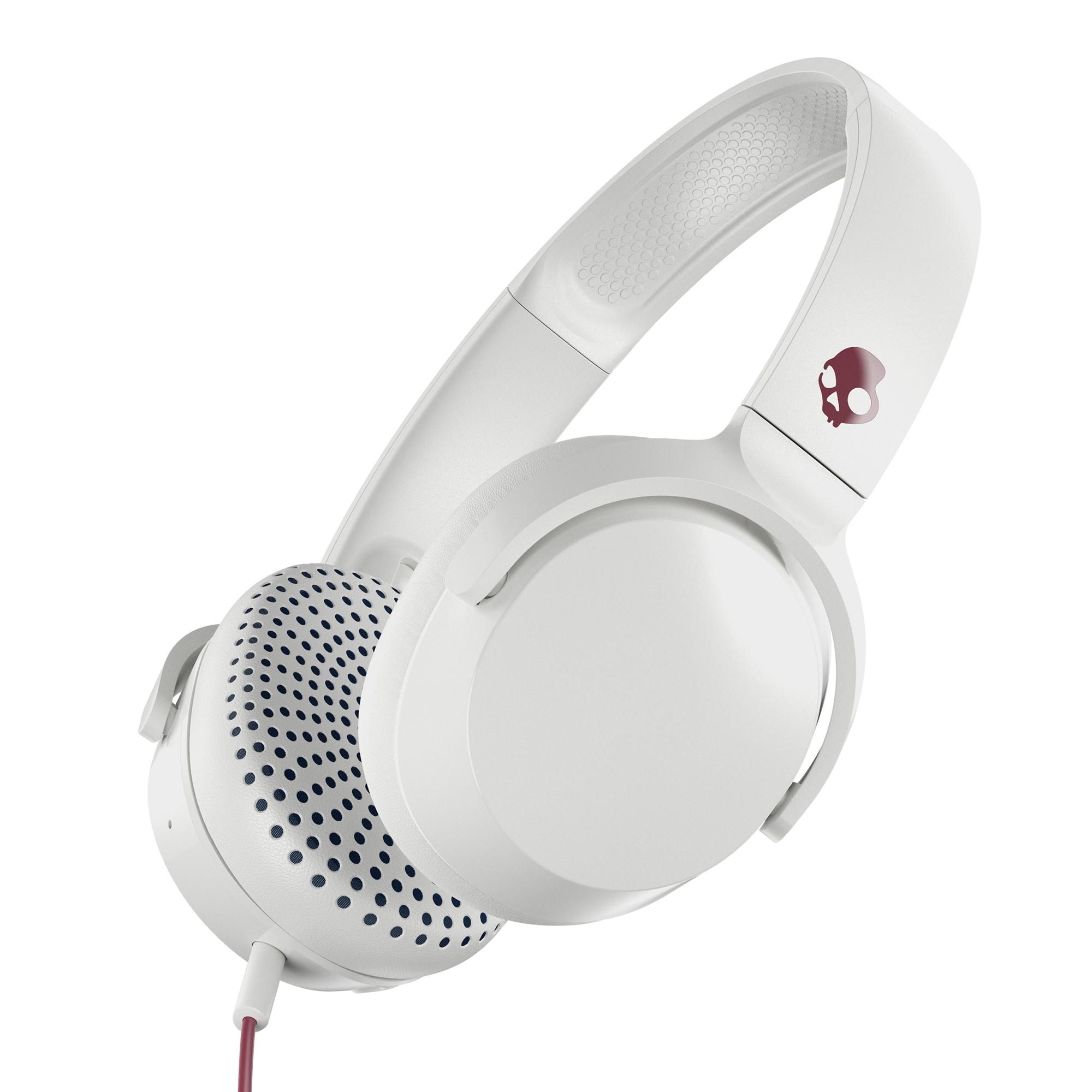 Skullcandy Riff On-Ear Durable Headphone – White/Crimson for $19