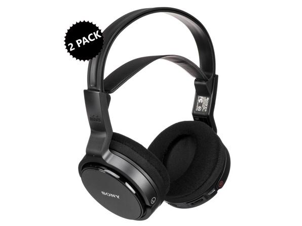 Sony Over-Ear Wireless RF Stereo TV Headphones (Renewed): 2-Pack for $54