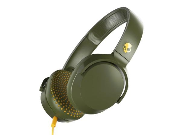 Skullcandy Riff On-Ear Headphone (Olive) for $19