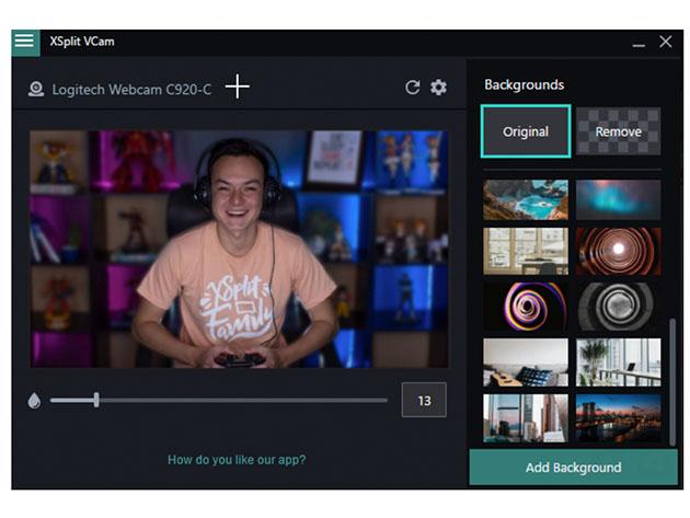 XSplit VCam: Lifetime Subscription (Windows) for $19