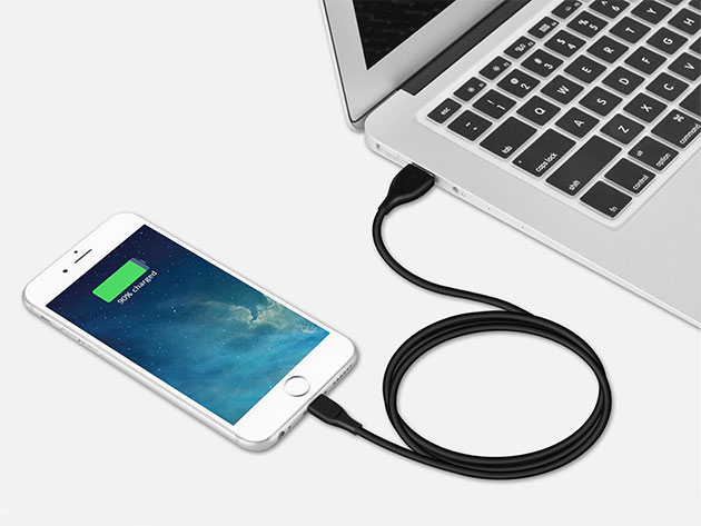 Syncwire UNBREAKcable (Lightning/Black) for $10