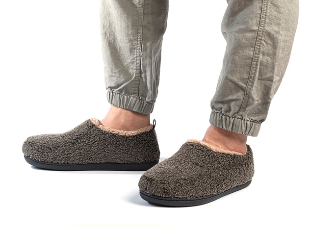 Men's Nomad Slippers with Memory Foam (Mocha, Size 9.5-10.5) for $16