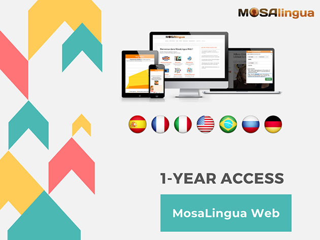 MosaLingua Language Learning Fluency Bundle: One Year Subscription for $28