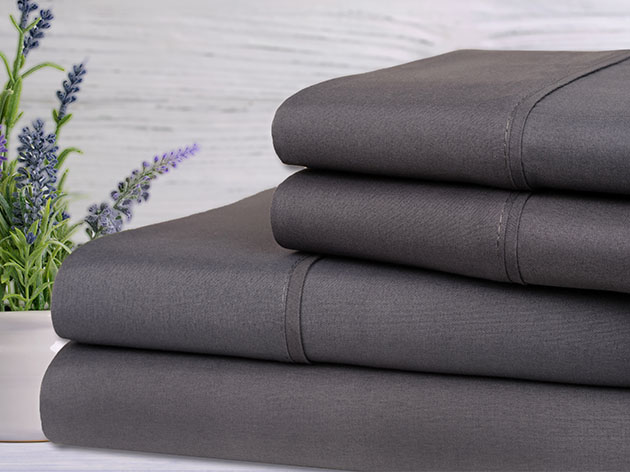 Bamboo 4-Piece Lavender Scented Sheet Set (Grey) for $29