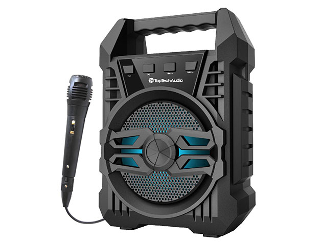 ANGEL-4 Bluetooth Speaker with Dynamic Microphone for $24