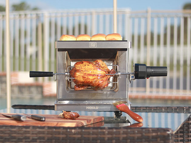 Gold Chef Grill & Rotisserie for $299