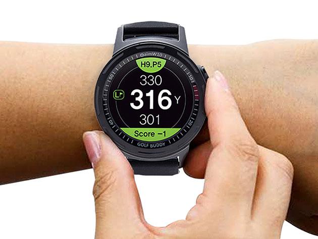 GOLFBUDDY Aim W10 GPS Golf Watch for $189